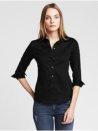 Non-Iron Fitted Sateen Shirt