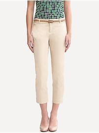 Logan sateen slim ankle pant with slit