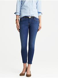 Distressed Indigo Skinny Ankle Jean