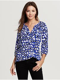 Circle Print Riviera Blouse