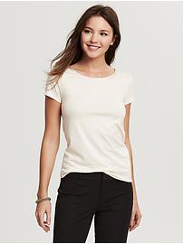 Luxe-Touch Piped Tee