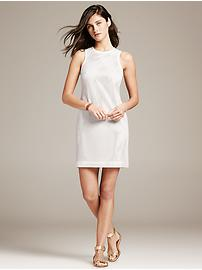 Perforated White Faux-Leather Sheath