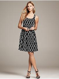 Rope-Print Fit-and-Flare Dress