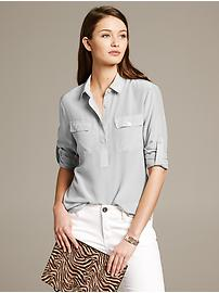 Silk Utility Blouse