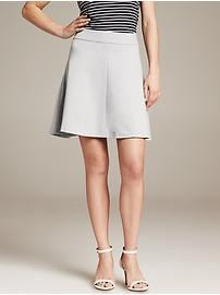 Ponte Fit-and-Flare Skirt