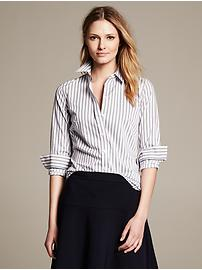 Fitted Non-Iron Variegated Stripe Shirt