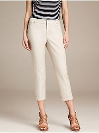 Logan sleek straight cuffed crop