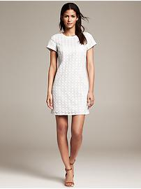 White Eyelet Shift