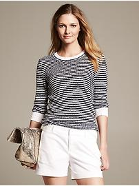 Striped Boucle Pullover