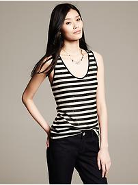 Textured Stripe Tank