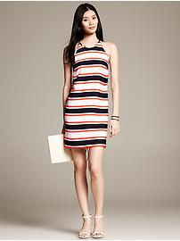 Bold Stripe Halter Dress
