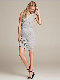 Space-Dye Faux-Wrap Dress