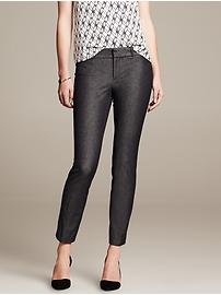 Sloan-Fit Textured Slim Ankle Pant