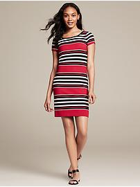Multi-Stripe Ponte Dress