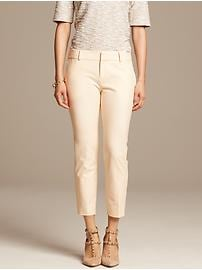 Hampton-Fit Cream Jacquard Crop