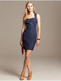 Sloan-Fit Chambray Sheath