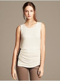 Side-Zip Ruched Tank