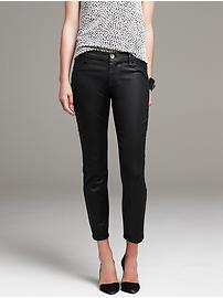 Coated Twill Skinny Ankle Pant